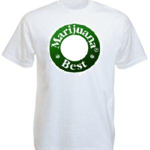 Best Marijuana Beer Caps Tee-Shirt White