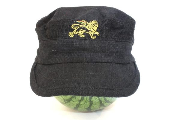 หมวกแก๊ปพร้อมส่ง Organic Hemp Cap Black Color Black Rasta Cap