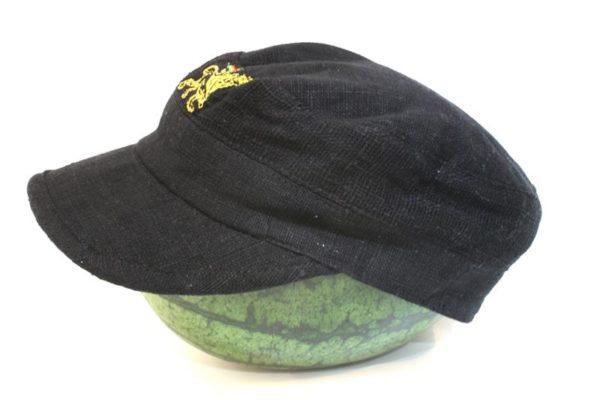 หมวกแก๊ปสุดเท่ห์ Organic Hemp Cap Black Color Black Rasta Cap