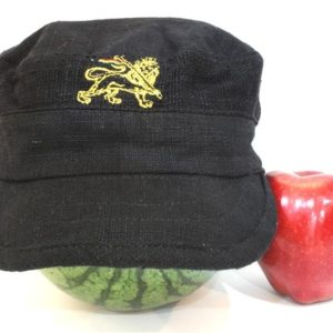 หมวกแก๊ปสีดำ Organic Hemp Cap Black Color Black Rasta Cap
