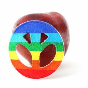 Patch Peace and Love Rasta Colors อาร์มติดเสื้อสีสันสดใส แห่งสันติภาพและความรัก