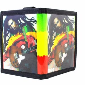 Wallet Vinyl Rastaman Guitar กระเป๋าเงิน STRONG RASTA WALLET BOB MARLEY WITH GUI