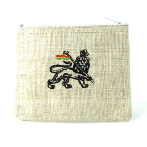 Purse Hemp White Lion of Judah Zip กระเป๋าใส่เหรียญ LION OF JUDAH NATURAL HEMP C