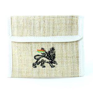 Wallet Hemp White Lion of Judah กระเป๋าเงินใยกัญชาลายสิงโต RASTA HEMP WALLET LIO