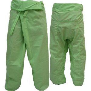 Trousers Thai Fisherman Pants Light Green กางเกงชาวเลสไตล์ราสต้า-เรกเก้ สีแอ็ปเป