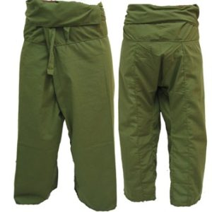 Trousers Thai Fisherman Pants Green Army กางเกงชาวเลสไตล์ราสต้า-เรกเก้ สีเขียวทห