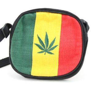 Bag Hemp Circle Handmade Cannabis Leaf กระเป๋าสะพายราสต้าใยกัญชาทรงกลม MARIJUANA
