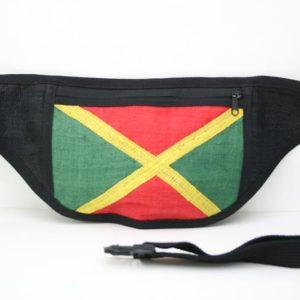 Bag Waist Super Flat Jamaica Easy to Hide กระเป๋าราสต้าคาดเอวใยกัญชา ลายธงชาติ J