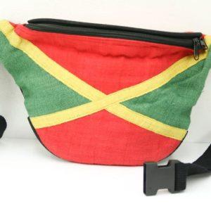 Bag Waist Hemp Jamaica Green Yellow Red กระเป๋าราสต้าคาดเอวใยกัญชา ลายธงชาติ JAM