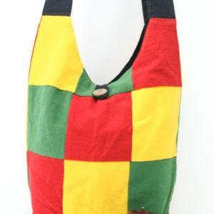 Bag Roots Beach Small Size Shoulder Button Green Yellow Red กระเป๋าสะพาย RASTA P
