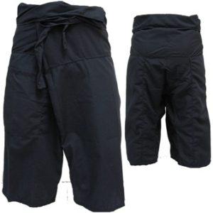 Trousers Thai Fisherman Pants Black กางเกงชาวเลสไตล์ราสต้า-เรกเก้ สีดำ ใส่ได้ทุก