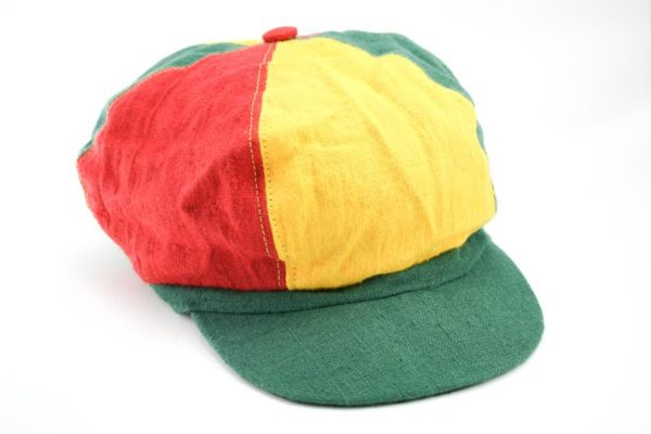 Cap Hemp Dreadlocks Green Yellow Red หมวกราสต้าใยกัญชา RASTA HEMP CAP หมวกแก็ปสำ