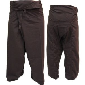 Trousers Thai Fisherman Pants Dark Brown กางเกงชาวเลสไตล์ราสต้า-เรกเก้ สีน้ำตาลเ