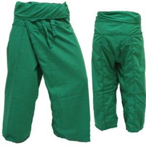 Trousers Thai Fisherman Pants Green กางเกงชาวเลสไตล์ราสต้า-เรกเก้ สีเขียว สำหรับ