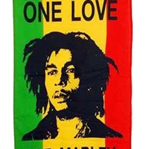 YOUNG BOB MARLEY RASTA FLAG GREEN YELLOW RED