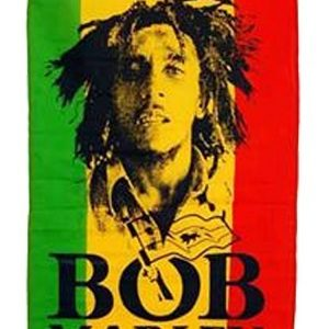 RASTA BOB MARLEY VERTICAL FLAG GREEN YELLOW RED RASTA COLORS DECORATION FLAG