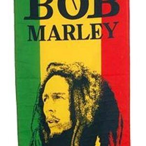 BOB MARLEY DREADLOCKS FLAG RASTA COLORS GREEN YELLOW RED FLAG