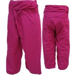 Trousers Thai Fisherman Pants Fuchsia Pink กางเกงชาวเลสไตล์ราสต้า-เรกเก้ สีชมพูบ