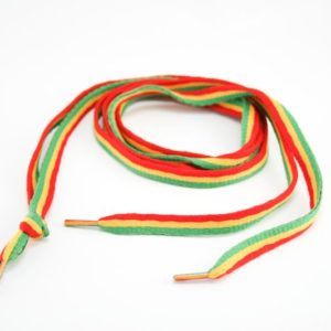 RASTA SHOELACE GREEN YELLOW RED