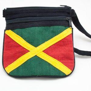 Bag Hemp Jamaica Flag Shoulder Zip กระเป๋าราสต้าสไตล์ธงชาติจาไมก้า ใส่ของได้ 2 ช
