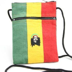 Bag Passport Hemp Rastaman Zip กระเป๋าราสต้าใยกัญชาใส่พาสปอร์ตปักลาย BOB MARLE