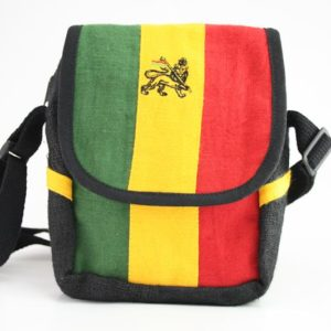 Bag Hemp Shoulder Lion of Judah Velcro Zip กระเป๋าสะพายใยกัญชา LION OF JUDAH  ข