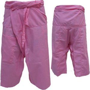 Trousers Thai Fisherman Pants Light Pink กางเกงชาวเลสไตล์ราสต้า-เรกเก้ สีชมพู เห