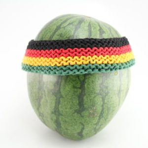 HEADBAND RASTA COLORS GREEN YELLOW RED BLACK SWEATBAND