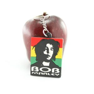 RASTA ACCESSORY BOB MARLEY KEYCHAIN GREEN YELLOW RED