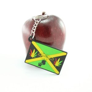 JAMAICA FLAG KEYCHAIN GREEN YELLOW BLACK