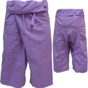 Trousers Thai Fisherman Pants Light Violet กางเกงชาวเลสไตล์ราสต้า-เรกเก้ สีม่วง