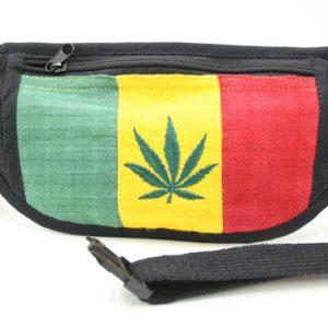 Bag Waist Super Flat Cannabis Easy to Hide กระเป๋าราสต้าคาดเอวใยกัญชา ลาย MARIJU