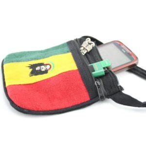 Bag Hemp Rastaman Shoulder Zip กระเป๋าราสต้าลาย BOB MARLEY ใส่ของได้ 2 ช่อง ขนาด