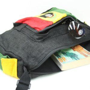 Bag Hemp Big Size Shoulder Rastaman กระเป๋าสะพายราสต้าใยกัญชาทรงยาว ปักลาย BOB M