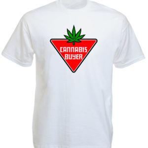 Cannabis Buyer White Tee-Shirt เสื้อยืดสีขาว Cannabis Buyer White Tee-Shirt