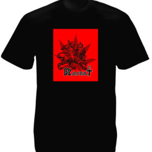 Rasta Ankh Lion Cannabis Black Tee-Shirt เสื้อยืดสีดำ Rasta Ankh Lion Cannabis