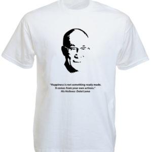 Dalaï-Lama White Tee-Shirt เสื้อยืดสีขาว Dalaï-Lama White Tee-Shirt