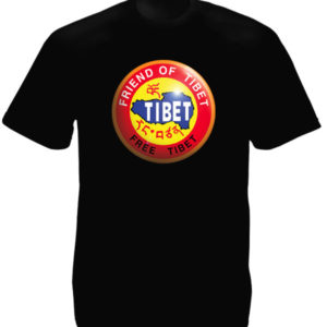 Free Tibet Friend of Tibet Black Tee-Shirt เสื้อยืดสีดำ Free Tibet Friend of Tib