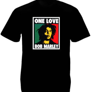 Bob Marley One Love Album Black Tee-Shirt เสื้อยืดสีดำลาย Bob Marley One Love Al