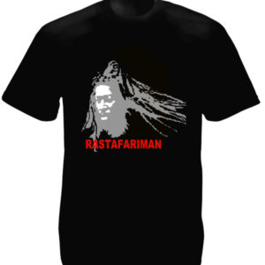 T-Shirt Noir Rastafari Man
