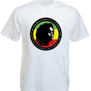 เสื้อยืดสีขาว Rasta Kid for Peace Rasta Kid for Peace White Tee-Shirt