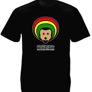 เสื้อยืดสีดำลายน่ารัก Rastafari Von Babylon Nach Afrika