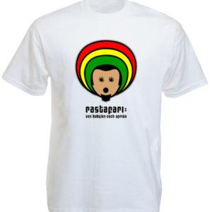 เสื้อยืดสีขาวลายการ์ตูนสุดน่ารัก Rastafari Von Babylon Nach Afrika