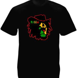 Reggae Colors Lion of Judah Face Black Tee-Shirt เสื้อยืดคอกลมสีดำสกรีนลายสิงโต