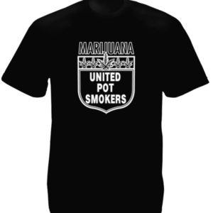 Marijuana United Pot Smokers Black Tee-Shirt