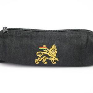 Pencil Case Black Hemp Lion of Judah กระเป๋าใส่ดินสอใยกัญชาสีดำ ปักลาย LION OF J