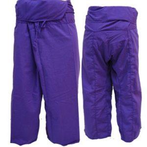 Trousers Thai Fisherman Pants Purple กางเกงชาวเลสไตล์ราสต้า-เรกเก้ สีม่วงเข้ม สุ
